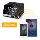 Portable Inlife K11 Bluetooth 4.2 Radio Alarm Clock Speaker with 2 USB Ports