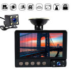 "4"" 1080P HD 3 In 1 Lens Car DVR Dash Cam Recorder Rearview Parking Camera"