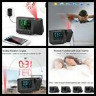 Alarm Clock with Weather Station Digital Projection Thermometer USB Charger  NEW