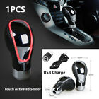 Car SUV Auto Red Touch Activated Sensor LED Light USB Charge Gear Shift Knob Kit