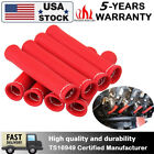 8pcs High Heat Red Shield Engine Spark Plug Wire Boot Protector Sleeve Cover New