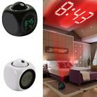 Multi-function Projection Clock LED Colorful Voice Control Alarm Clock 9G67
