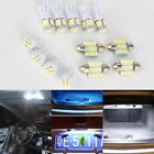 13x Car White LED Lights Kit for Stock Interior & Dome&License Plate Lamp AUTOS