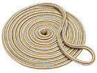 "1/2""x25' Gold Braid Dock Line - Nylon Double Braid"
