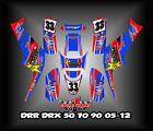 DRR DRX 50 70 90 05-12  ATV SEMI CUSTOM GRAPHICS KIT 3
