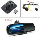 Durable Car Dimming TFT LCD Rear View Mirror Monitor w/ Rear Camera Night Vision