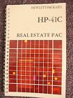 HP 41C Real Estate Pac Manual only for HP-41C Calculator
