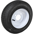 Utility Trailer Tire and Wheel Assembly 4 PLY Size 4.80 x 8 LRB 4 on 4 Wheel