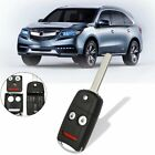 2+1 Buttons Car Remote Key Flip Fob Shell Case Keyless Entry For Acura Honda