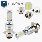 BEVINSEE 100W P15D H6M CSP LED Headlight 6500K Bulbs 3000LM For Yamaha Honda ATV