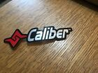 CALIBER SNOWMOBILE TRAX GRABBER UNUSED DECALS STICKERS (SILVER/CHROME WRITING)