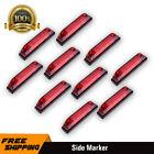 """10x 6 LED Utility Strip Led Side Marker 12V Boat Navigation Marine 4"""" Strip Bar"""