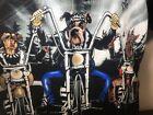 NO BOUNDARIES MOTORCYCLE Button Down Shirt Biker Dogs Black XL