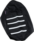 Parts Unlimited 0821-2887 Gripper Seat Cover Black/White