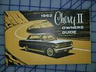 1962 Chevrolet Chevy II Owners Manual Original 1st Ed