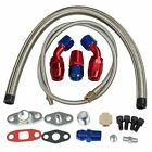 Turbo Charger Oil Drain Return & Feed Line T3 T4 T04E T60 T61 T70 Complete Kit