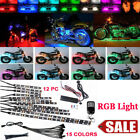15Color RGB&12x Motorcycle Car LED Light Strip  Flexible Remote Control 5050 SMD
