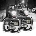 """7X6"""" 120W H6054 H6052 HALO DRL Sealed Beam Led Headlight For Jeep Wrangler YJ"""