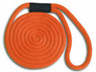 "Orange Nylon Dock Lines 3/8"" x 10'- Made in USA"