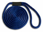 "Navy Blue Nylon Dock Line Rope 3/8"" x 10' - Made in USA"