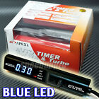 Apexi Auto Turbo Timer Control Unit Black Pen w/ BLUE Digital LED for Universal