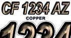COPPER Boat Registration Numbers PWC Decals Stickers Graphics CF, NV AZ..