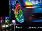 2pcs LED Tyre Tire Valve Caps Neon Light Bike Car