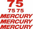 mercury outboard decal kit 75 hp decal stickers