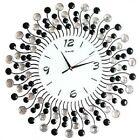 Large Clock Crystal Design Quartz Silent Move Iron Hand Glass Clock 50 x 50 cm.
