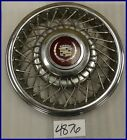 """1985 85 CADILLAC FWD 14"""" WIRE TYPE HUBCAP NORRIS DYCREST DESIGN 1624053 2047"""