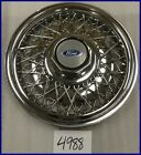 """88 89 90 91 FORD TEMPO PASSENGER 15"""" WIRE HUBCAP HUB CAP GOOD USED OEM 864"""