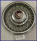 "1985 85 CADILLAC FWD 14"" WIRE TYPE HUBCAP NORRIS DYCREST DESIGN 1624053 2047"