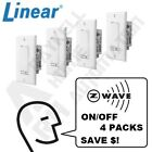 Linear Z-Wave ON/OFF Relay Switch 4 Pack – Model WS15Z-1