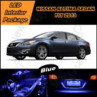 7 x Xenon Blue LED lights interior package kit for 2013 Nissan Altima Sedan