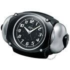 New SEIKO Japan  Super Raiden 2 Bells Loud Alarm Clock With Snooze NR438K Black