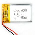 2 pcs Lithium 3.7V 240 mAh rechargeable Polymer 502030 for bluetooth mp3 reader