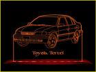 Toyota Tercel LED Acrylic Edge Lit Sign+AC adaptor+Remote Control