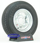 """(2)- Boat Trailer Tires ST 225/75R15 with 15"""" Galvanized Wheel 6 on 5 1/2"""" Bolt"""