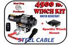 4500lb Mad Dog Winch Mount Combo Kawasaki 08-13 750 Teryx