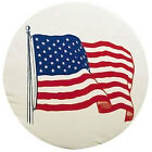 ADCO 34 INCH RV CAMPER TRAILER SPARE TIRE WHEEL COVER USA AMERICAN FLAG 1781
