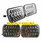 "4PCS 7""x6"" H4 LED Cree Light Bulbs Clear Sealed Beam Crystal Headlight Headlamps"