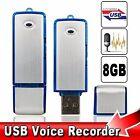 USB Digital Voice Recorder Device Plus 8gb Flash Drive