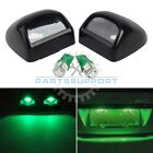 2x License Plate Lights Lens + Green T10 912 LED for Chevy/GMC Pickup Super Duty