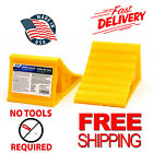 Wheel Chock RV Car Wheel 2 Pack Motorcycle Trailer Truck Rubber Free Shipping