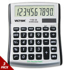 Victor 1100-3A Antimicrobial Compact Desktop Calculator 10-Digit LCD [3 PACK]