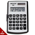 Victor 908 Portable Pocket/Handheld Calculator 8-Digit LCD [3 PACK]