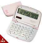 Victor 909-9 Limited Edition Pink Compact Calculator 10-Digit LCD [6 PACK]