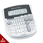 Texas Instruments TI-1795SV Minidesk Calculator 8-Digit LCD [6 PACK]