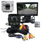 """Car Truck Rear View System 7"""" Monitor+Waterproof Night Vision Backup Camera Kit"""