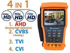 "AHD & Analog Video Camera Tester w/Multimeter 3.5"" CCTV PTZ Audio Cable Voltage"